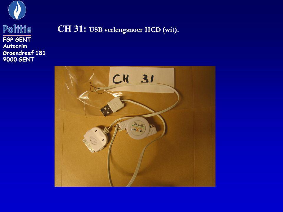 CH 31: USB verlengsnoer IICD (wit).