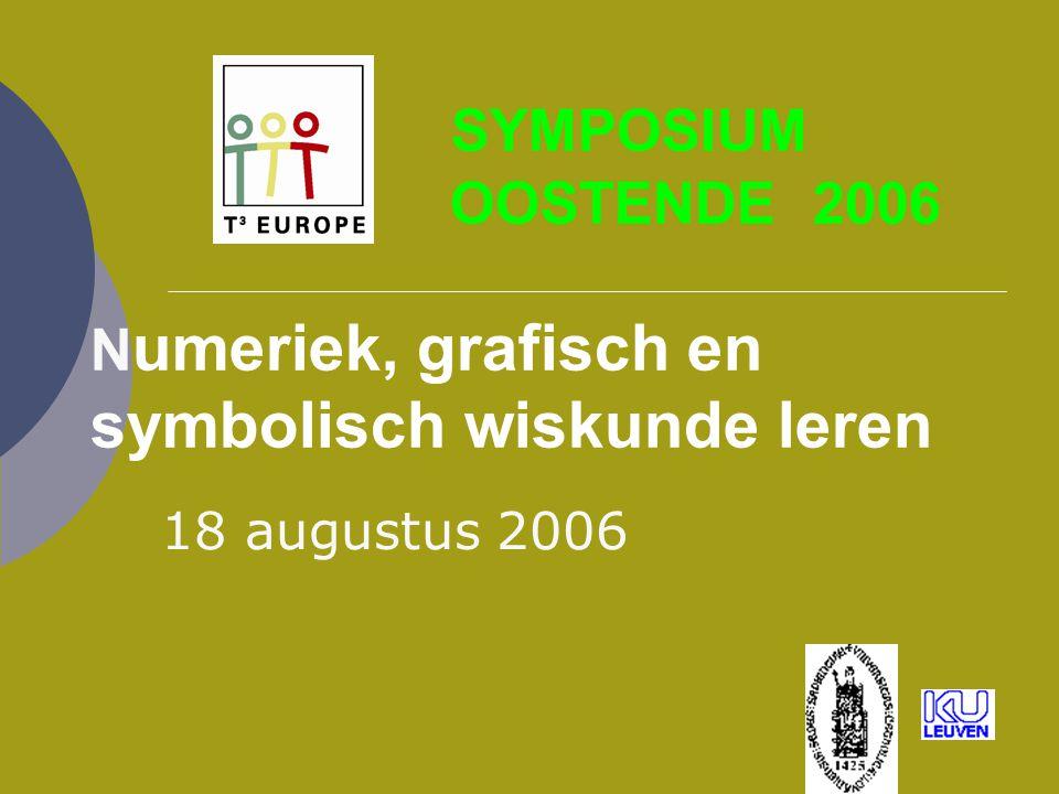 SYMPOSIUM OOSTENDE 2006 Numeriek, grafisch en symbolisch wiskunde leren