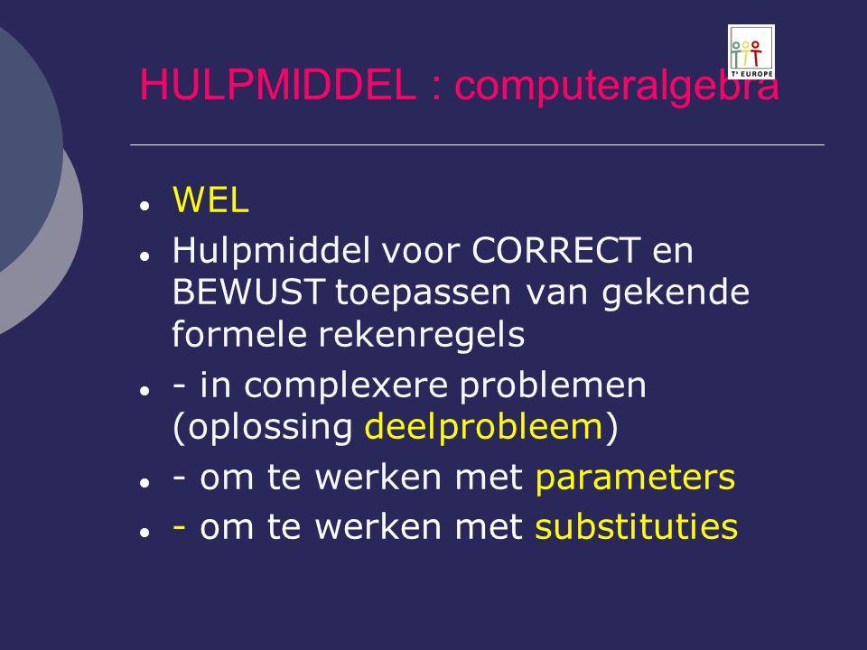 HULPMIDDEL : computeralgebra