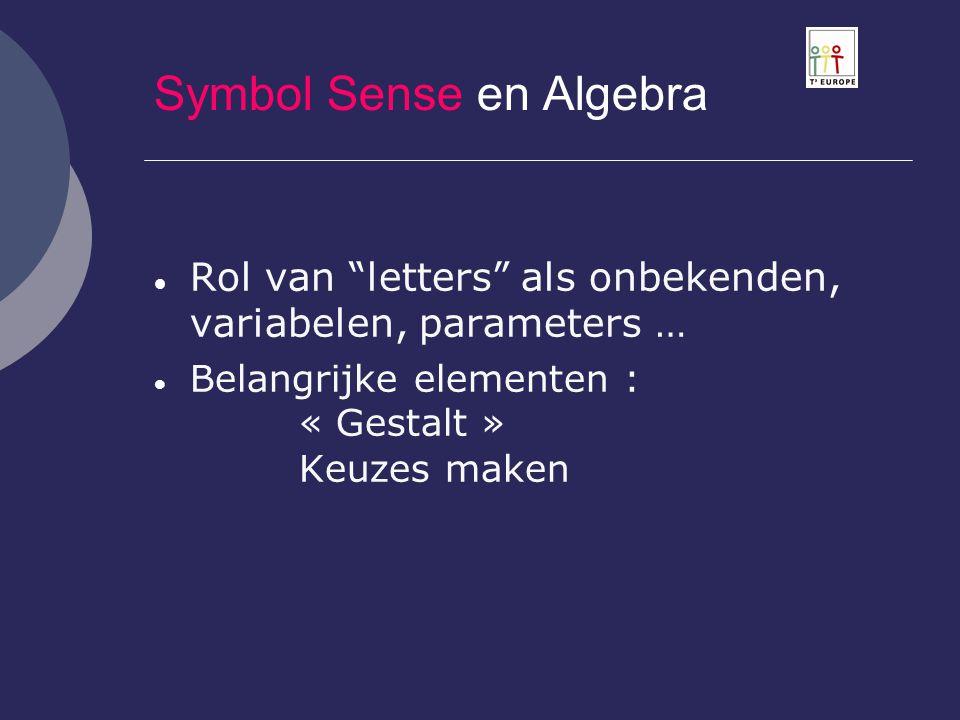 Symbol Sense en Algebra