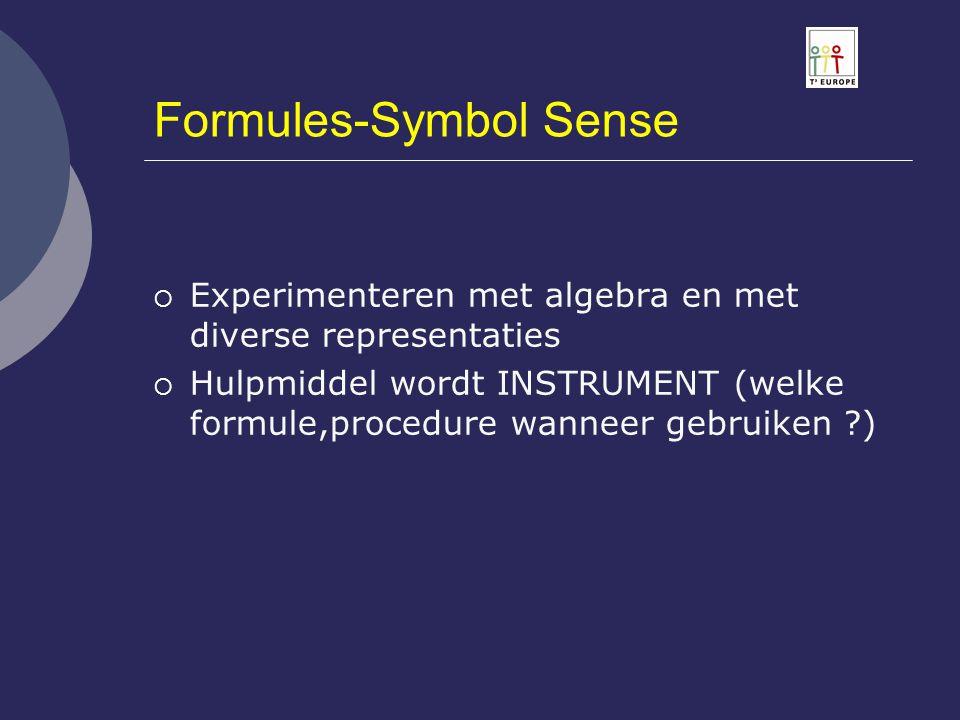 Formules-Symbol Sense