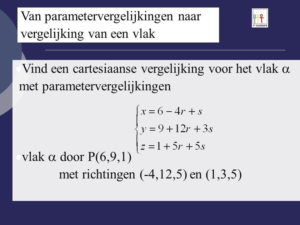 Van parametervergelijkingen naar