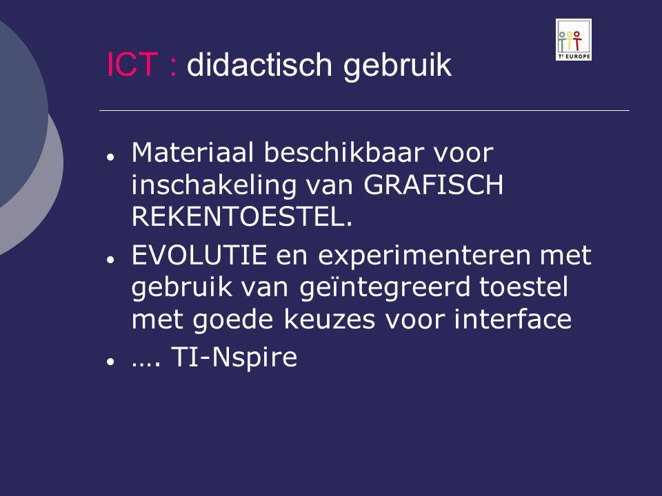 ICT : didactisch gebruik