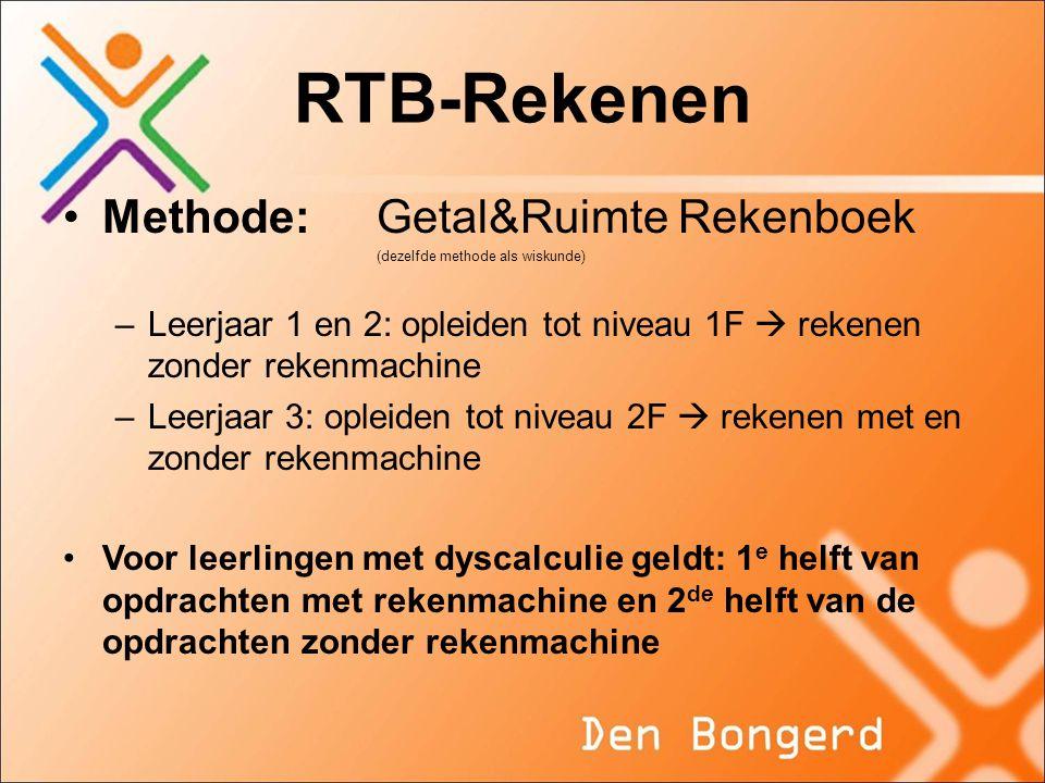 RTB-Rekenen Methode: Getal&Ruimte Rekenboek