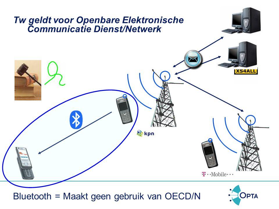 Tw geldt voor Openbare Elektronische Communicatie Dienst/Netwerk