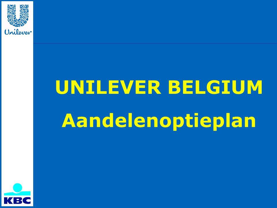 UNILEVER BELGIUM Aandelenoptieplan