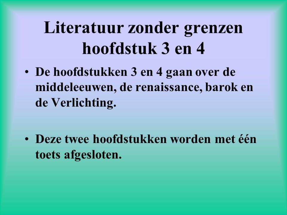 Literatuur zonder grenzen hoofdstuk 3 en 4