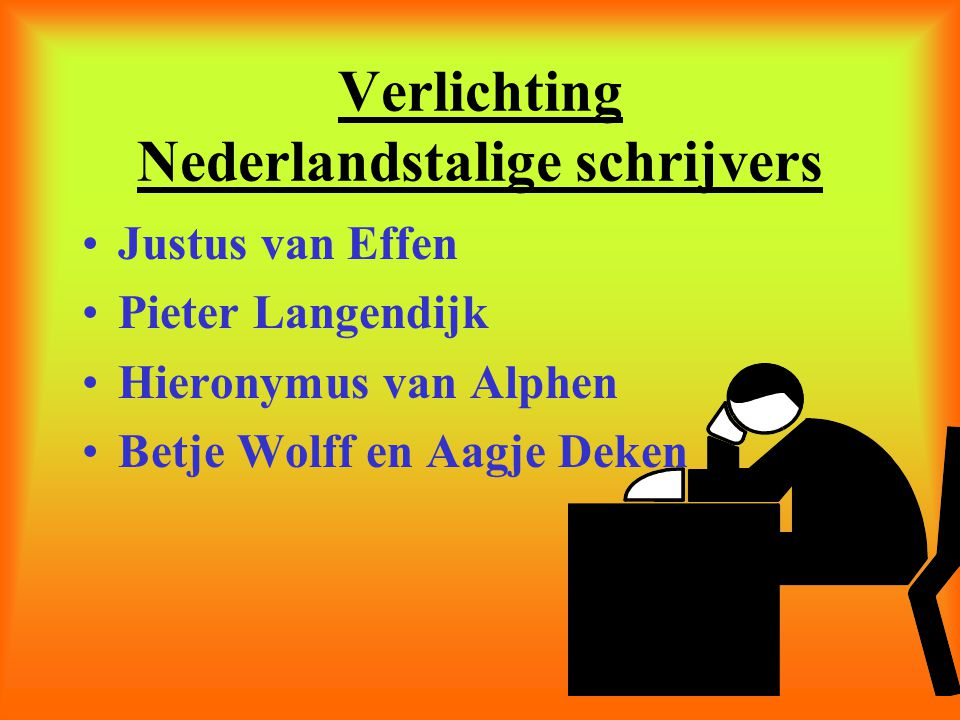 Verlichting Nederlandstalige schrijvers