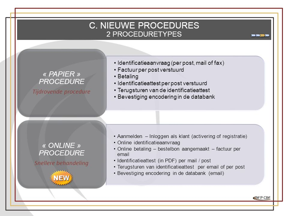 Tijdrovende procedure