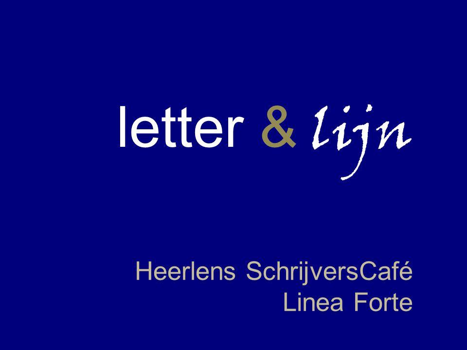 letter & lijn Heerlens SchrijversCafé Linea Forte