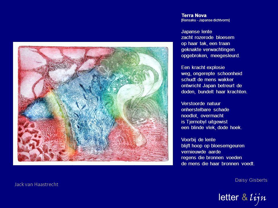letter & lijn Jack van Haastrecht Terra Nova Japanse lente