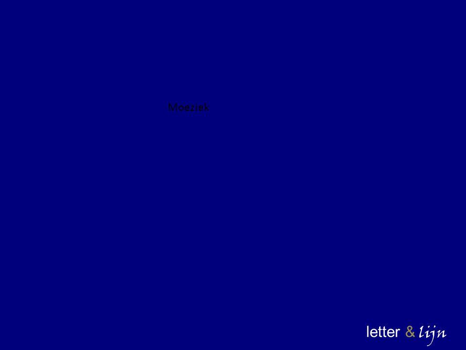 Moeziek letter & lijn