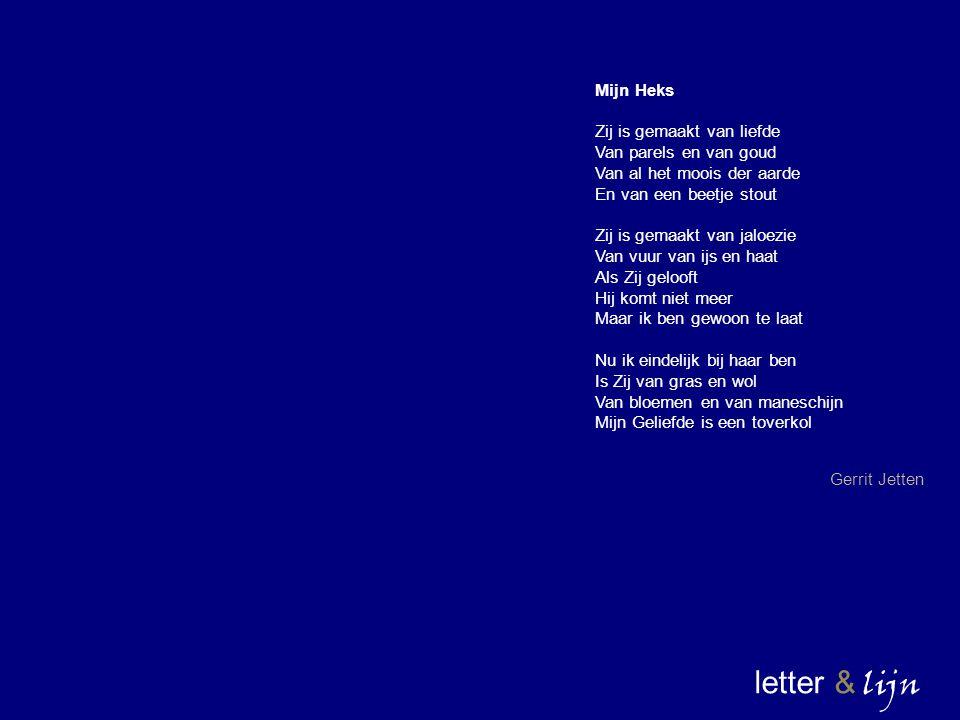 letter & lijn Mijn Heks Zij is gemaakt van liefde