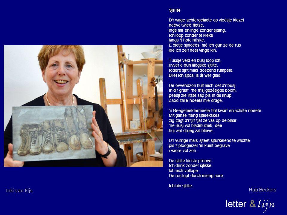 letter & lijn Inki van Eijs Hub Beckers Sjtilte