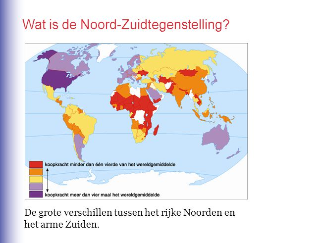 Wat is de Noord-Zuidtegenstelling