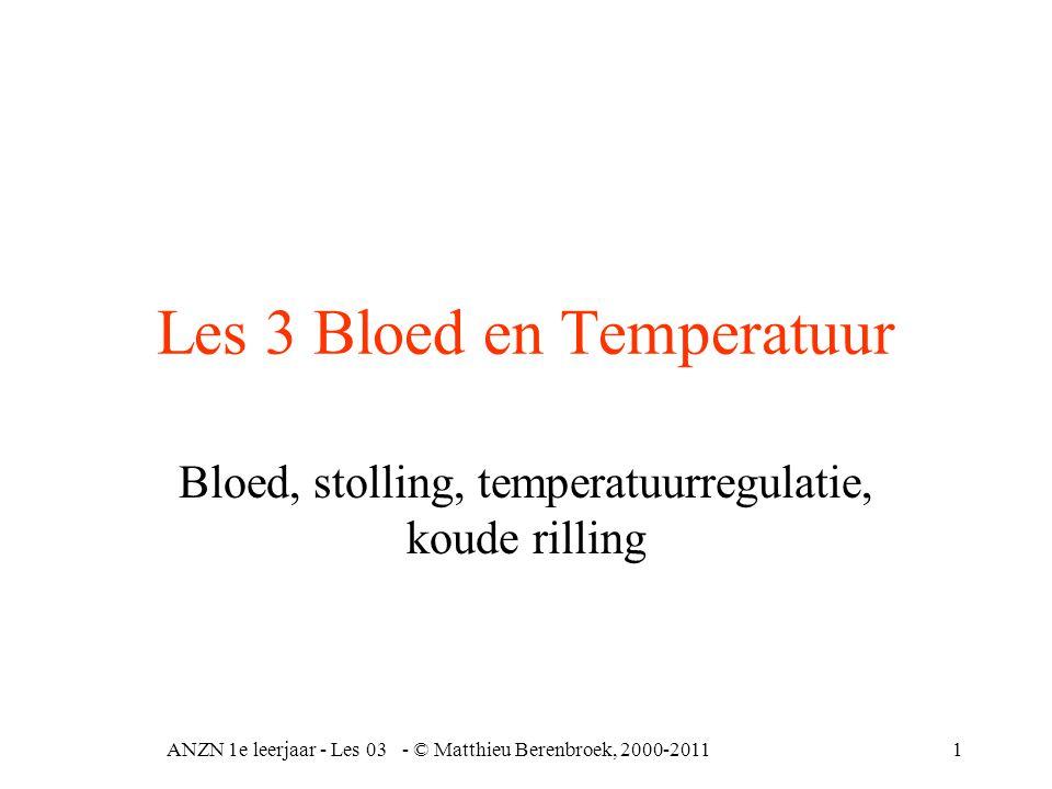 Les 3 Bloed en Temperatuur