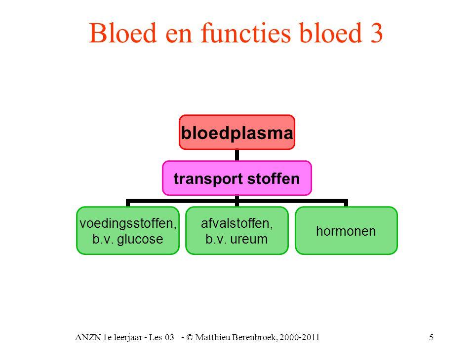 Bloed en functies bloed 3