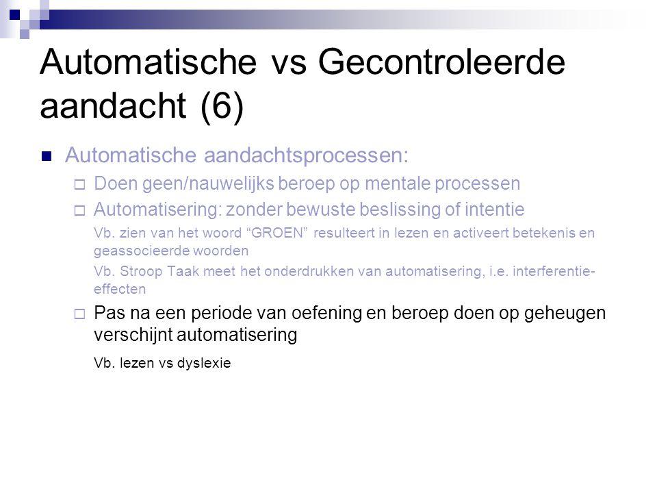Automatische vs Gecontroleerde aandacht (6)