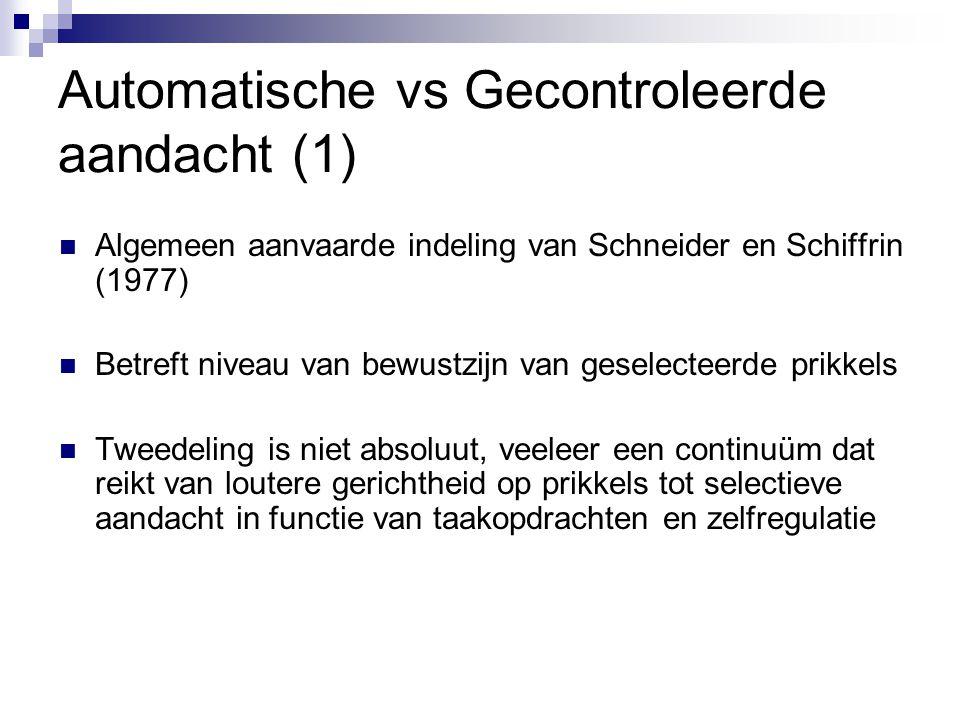 Automatische vs Gecontroleerde aandacht (1)