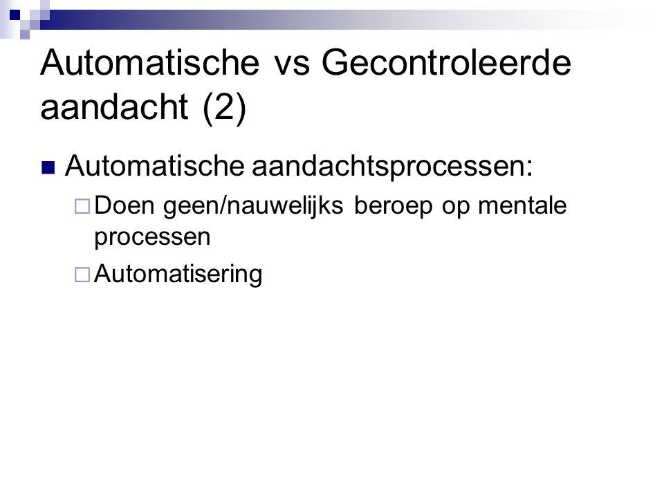 Automatische vs Gecontroleerde aandacht (2)