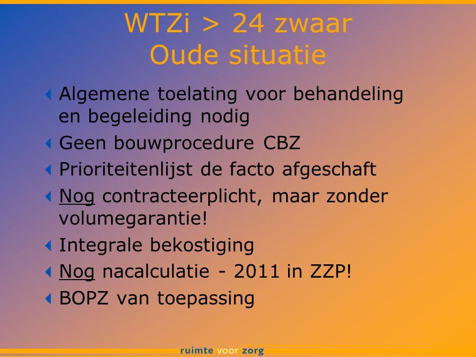 WTZi > 24 zwaar Oude situatie