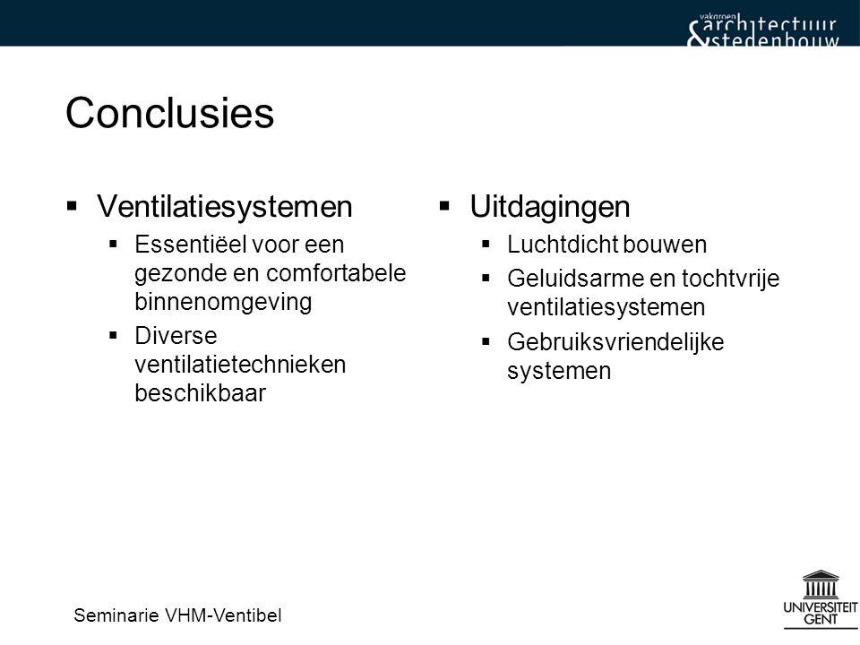 Conclusies Ventilatiesystemen Uitdagingen