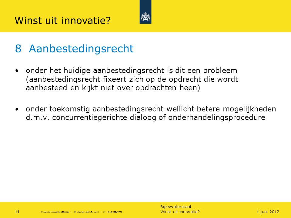 8 Aanbestedingsrecht Winst uit innovatie