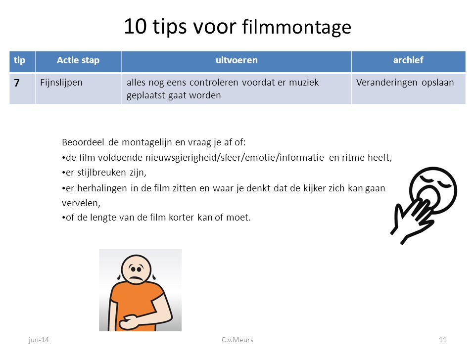 10 tips voor filmmontage 7 tip Actie stap uitvoeren archief
