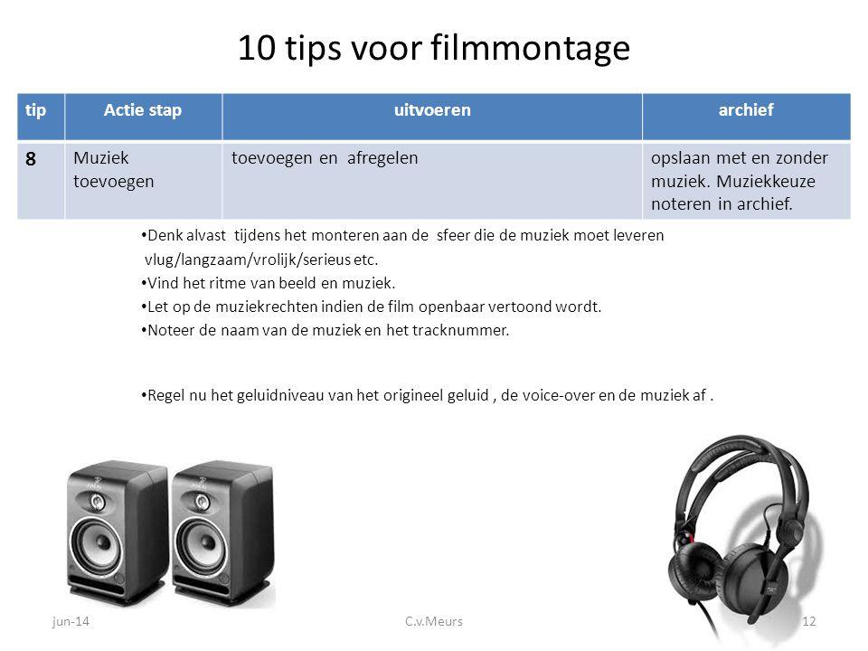 10 tips voor filmmontage 8 tip Actie stap uitvoeren archief