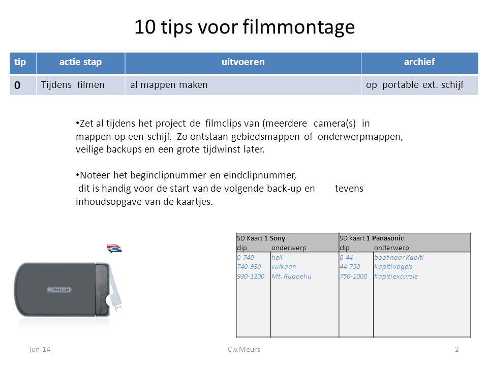10 tips voor filmmontage tip actie stap uitvoeren archief