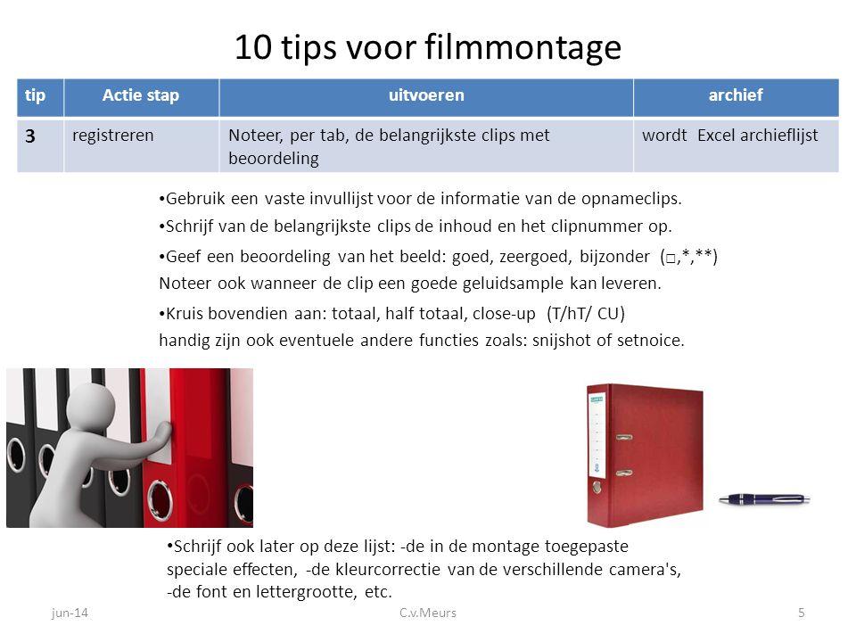 10 tips voor filmmontage 3 tip Actie stap uitvoeren archief