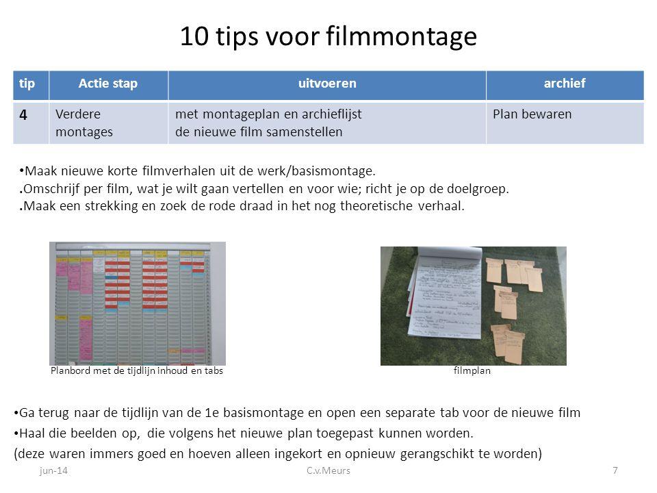 10 tips voor filmmontage 4 tip Actie stap uitvoeren archief
