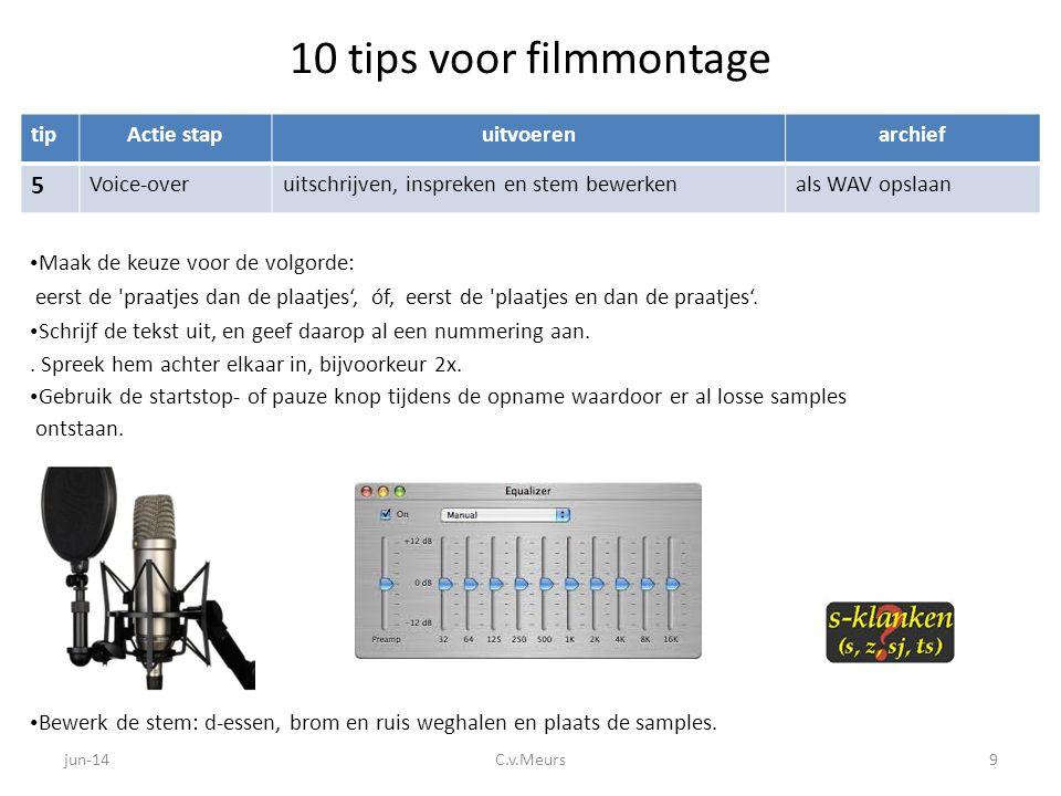 10 tips voor filmmontage 5 tip Actie stap uitvoeren archief Voice-over