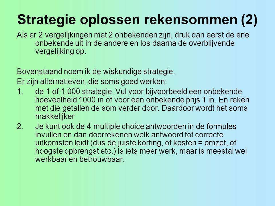 Strategie oplossen rekensommen (2)