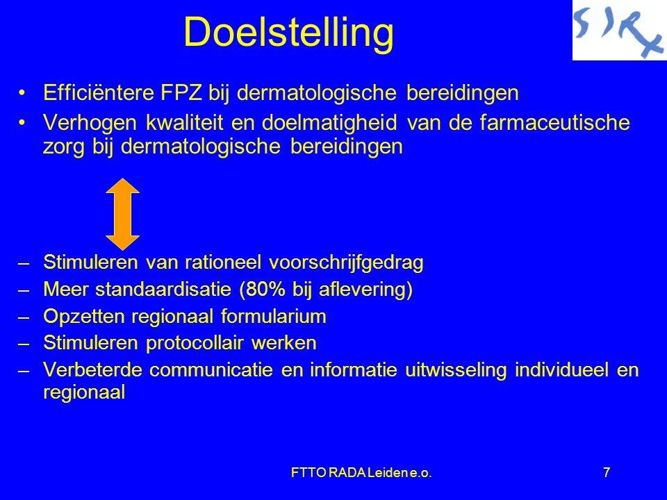 Doelstelling Efficiëntere FPZ bij dermatologische bereidingen