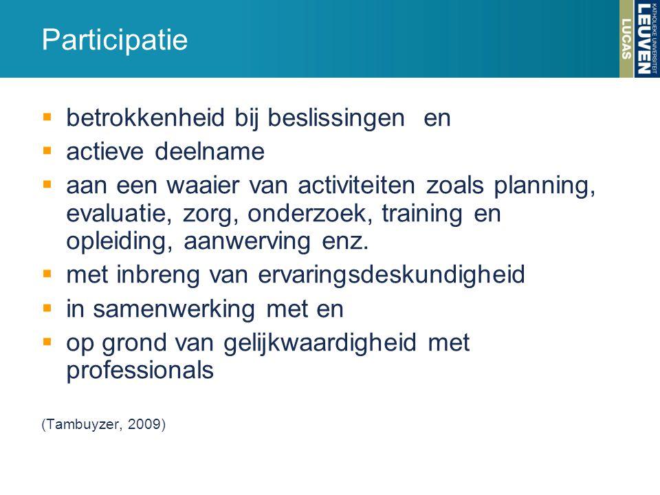 Participatie betrokkenheid bij beslissingen en actieve deelname