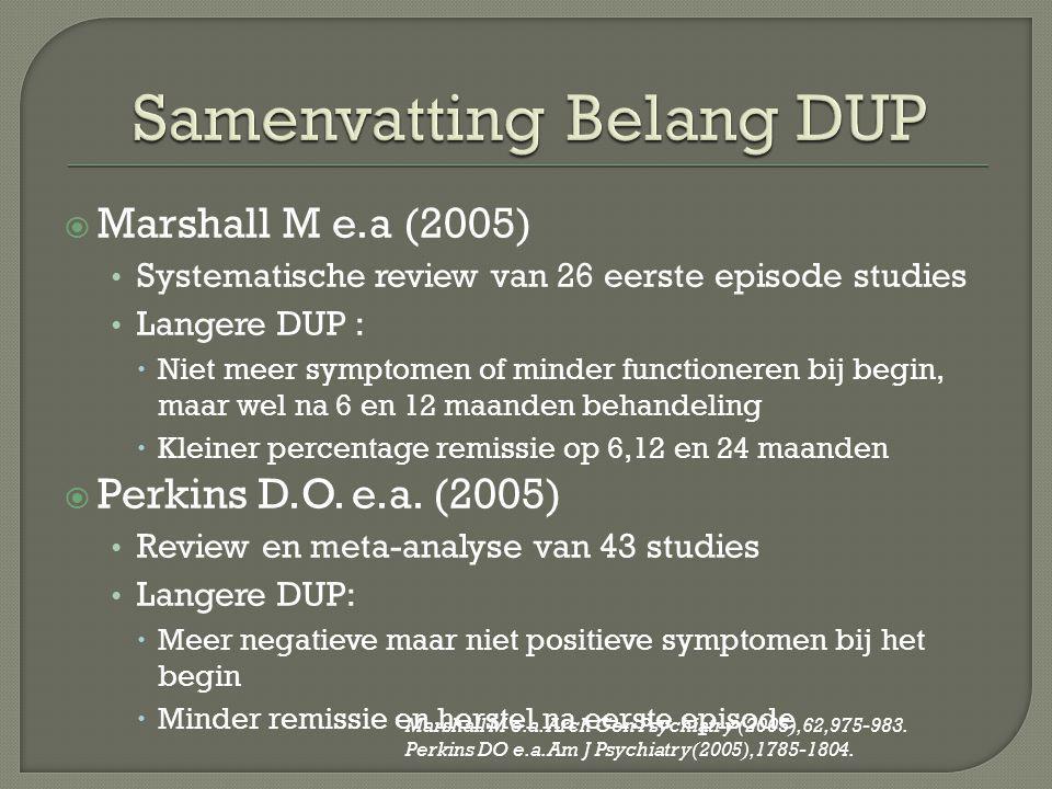 Samenvatting Belang DUP