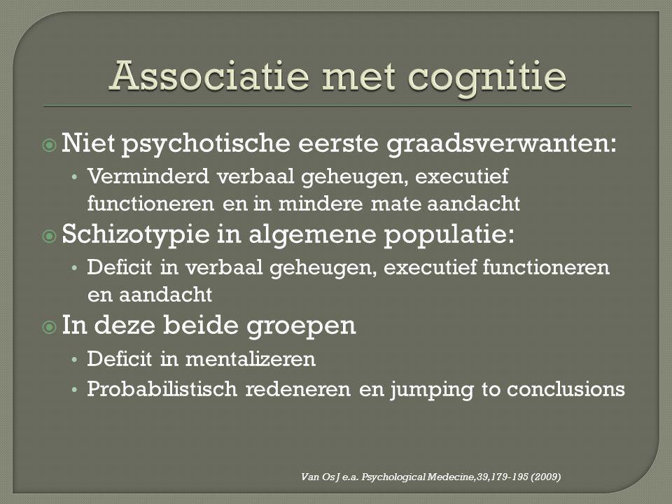 Associatie met cognitie