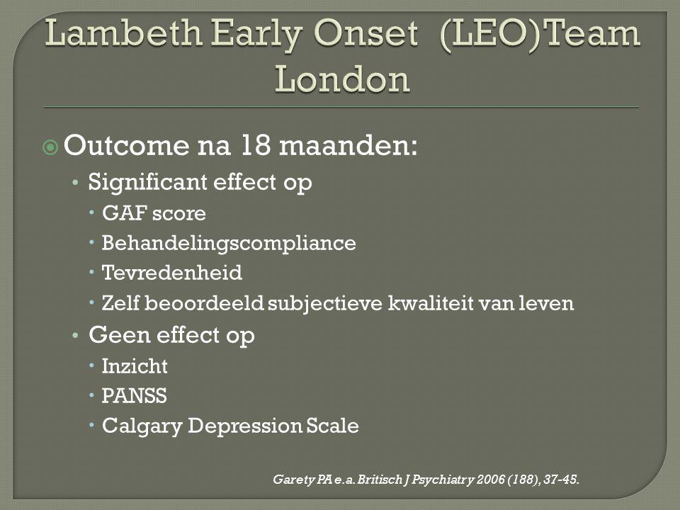 Lambeth Early Onset (LEO)Team London