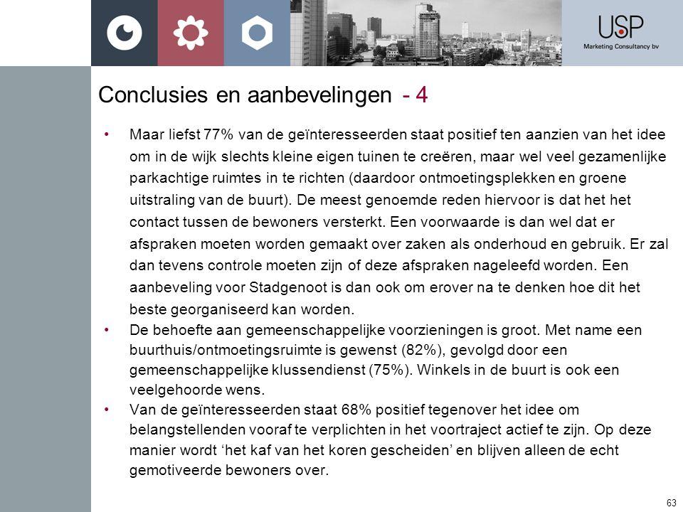 Conclusies en aanbevelingen - 4