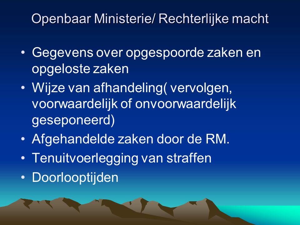 Openbaar Ministerie/ Rechterlijke macht