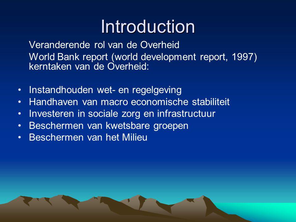 Introduction Veranderende rol van de Overheid