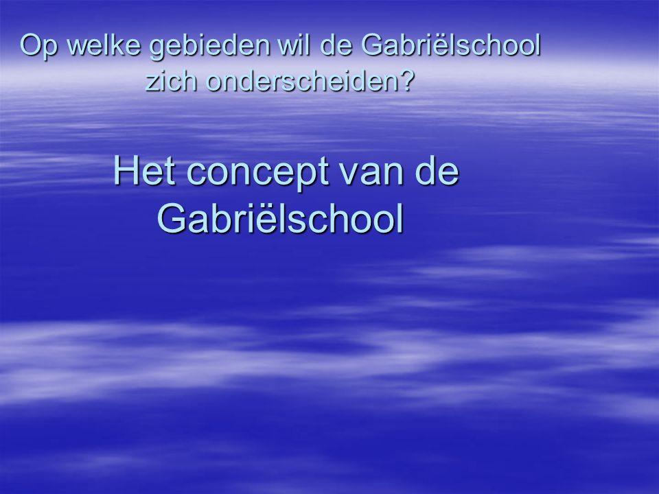 Op welke gebieden wil de Gabriëlschool zich onderscheiden
