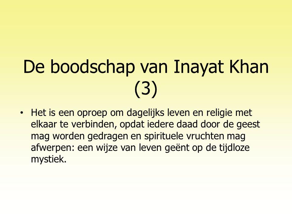 De boodschap van Inayat Khan (3)