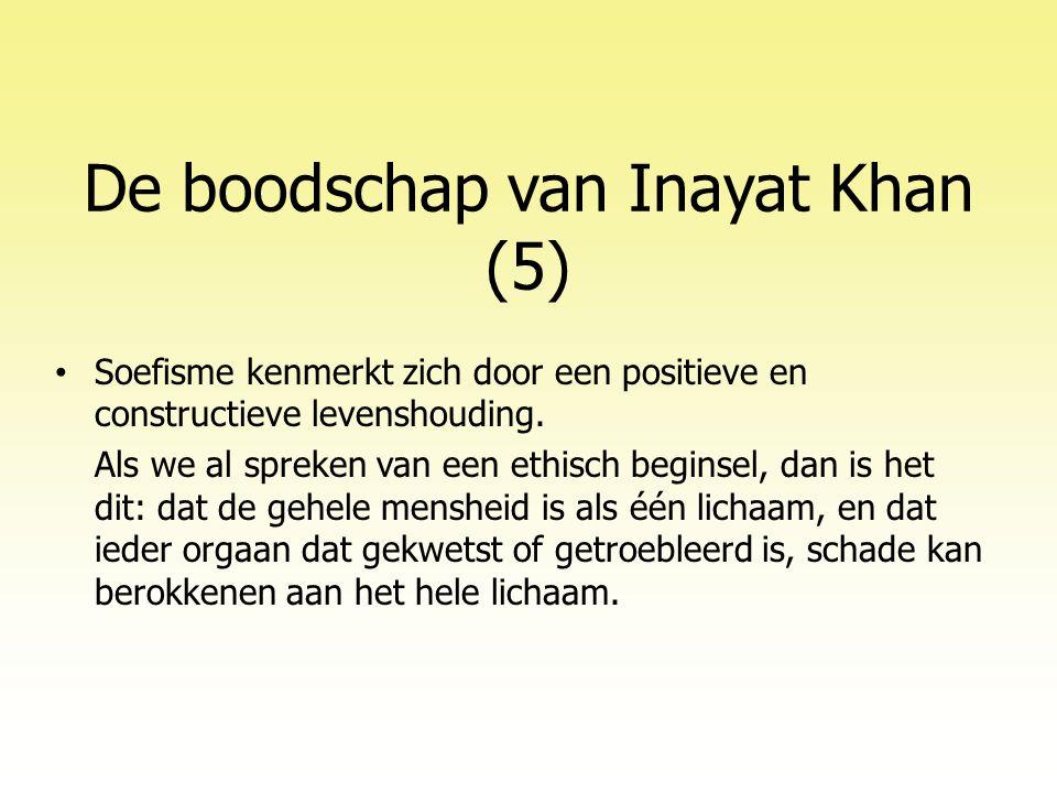 De boodschap van Inayat Khan (5)