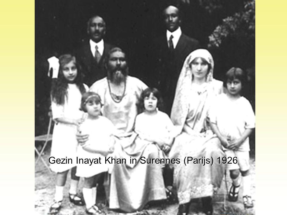 Gezin Inayat Khan in Surennes (Parijs) 1926