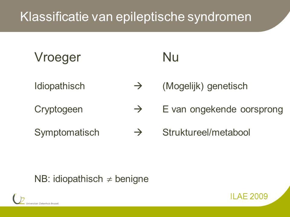 Klassificatie van epileptische syndromen