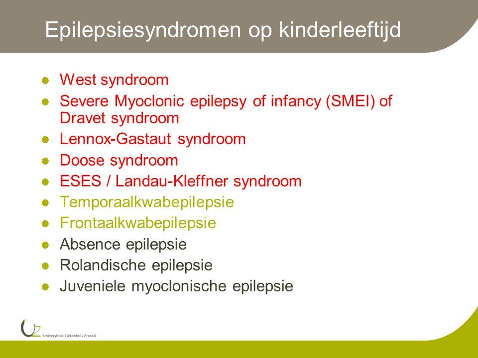 Epilepsiesyndromen op kinderleeftijd