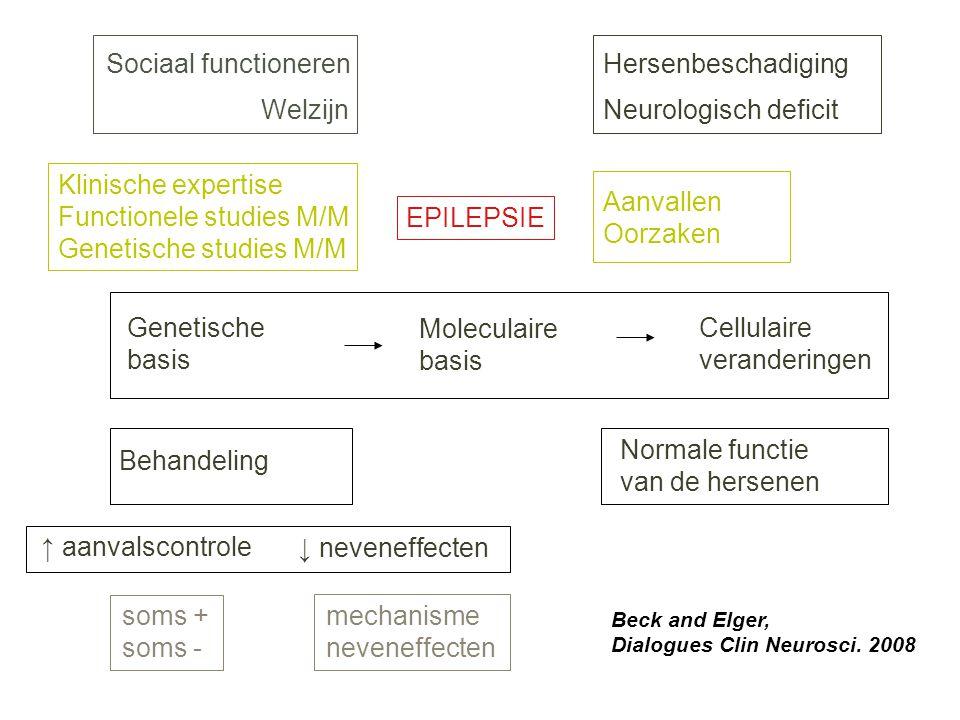 Functionele studies M/M Genetische studies M/M Aanvallen Oorzaken