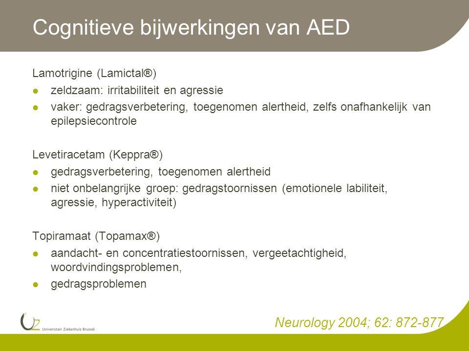 Cognitieve bijwerkingen van AED